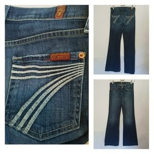 7 For All Mankind Dojo Flip Flop flare jeans 26